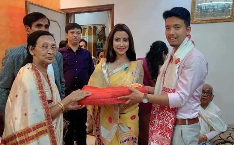 Barsha Rani Bishya wedding invitation