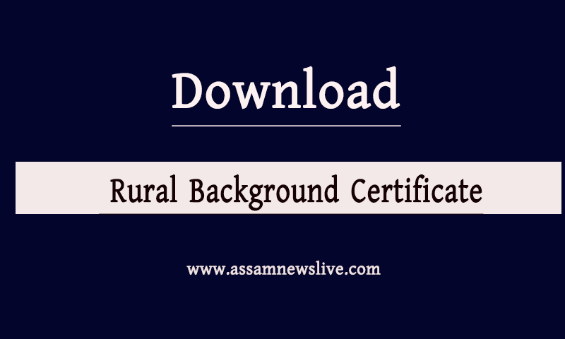 Rural background certificate